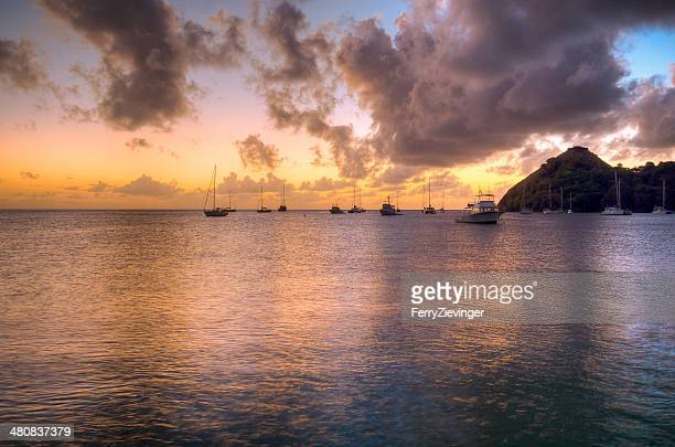 Sunset over Rodney Bay, Saint Lucia, Caribbean