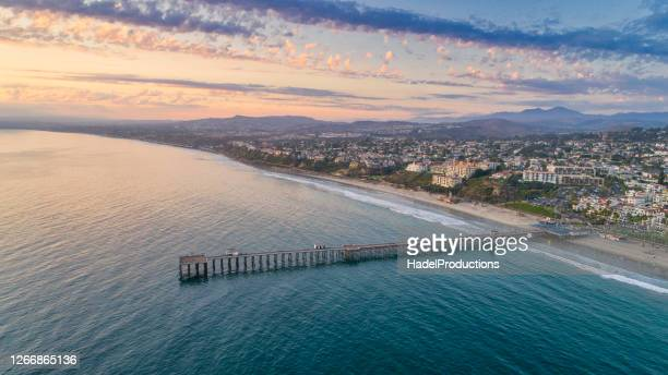 sunset over san clemente, california - orange county california stock pictures, royalty-free photos & images