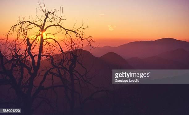 Sunset over San Gabriel Mountains