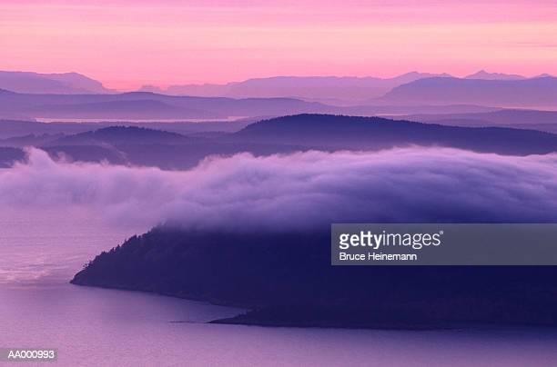 Sunset over San Juan Island