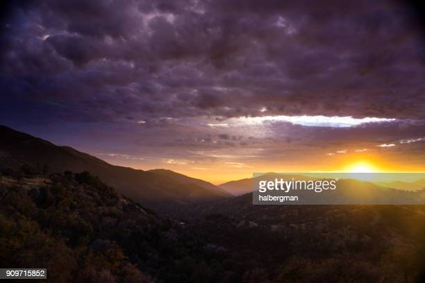 Sunset Over Santa Cruz Mountains, California