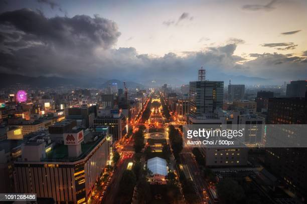 Sunset over Sapporo
