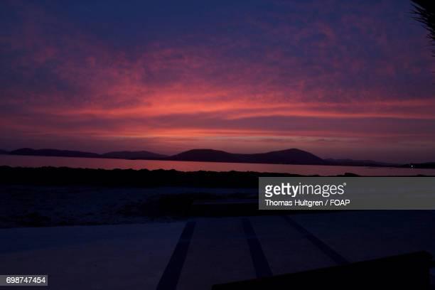 Sunset over sardinia