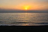 background beautiful coast dusk evening gloaming