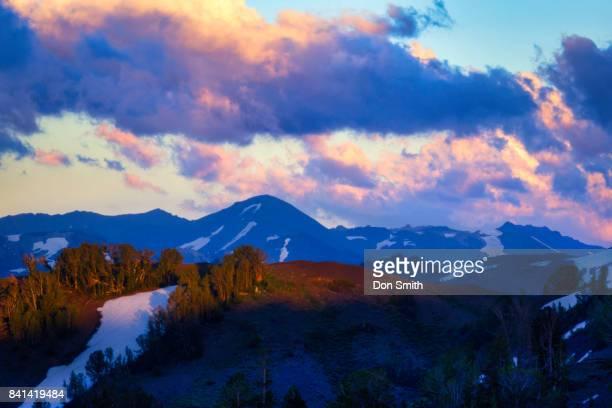 sunset over sonora pass - don smith ストックフォトと画像