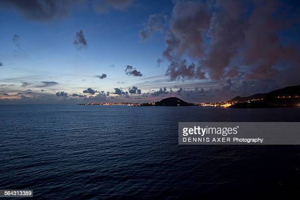 Sunset over St. Maarten