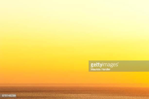 Sunset over Suruga Bay, Izu peninsula, Japan.