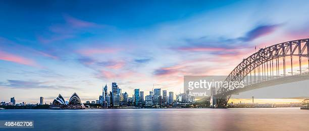 sunset over sydney 71 mp - sydney stock pictures, royalty-free photos & images