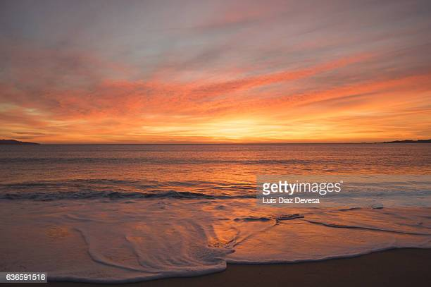 Sunset Beach Stock Pictures Royalty