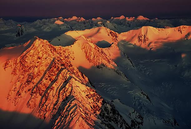 Sunset Over The Chugach Mountains Wall Art
