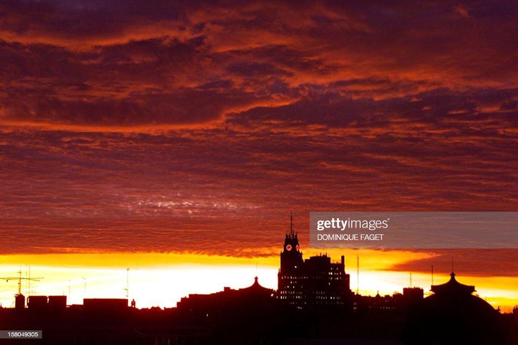 SPAIN-MADRID SUNSET : News Photo