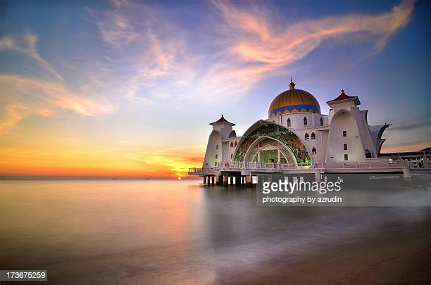 Sunset over the floating Mosque