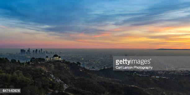 Sunset Over The Los Angeles Basin And Griffith Observatory