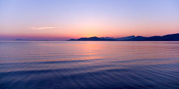 Sunset over the Mediterranean, Hyeres, France