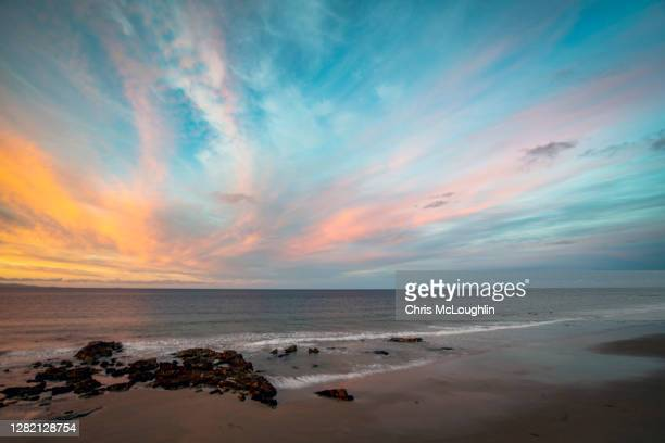 sunset over the moray firth, scotland - モーレイ湾 ストックフォトと画像