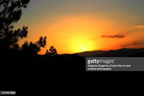 sunset over the mountains - gregoria gregoriou crowe fine art and creative photography stock pictures, royalty-free photos & images