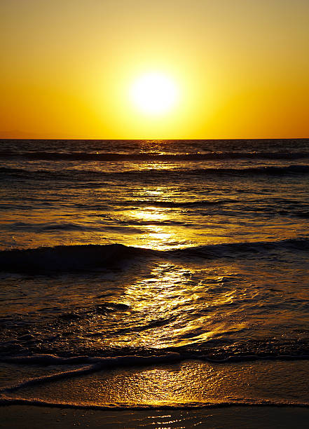 Sunset Over The Pacific Ocean. Wall Art