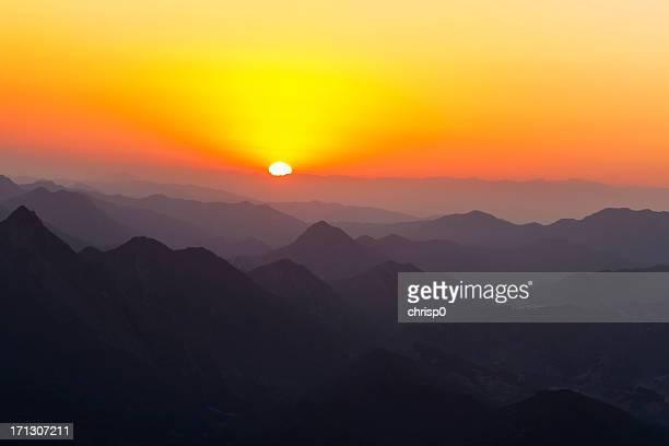 Sunset over the Santa Monica Mountains