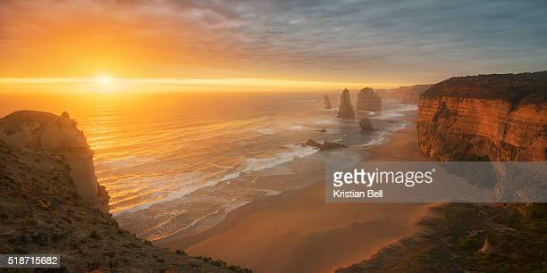 Sunset over the Twelve Apostles on the Great Ocean Road, Australia