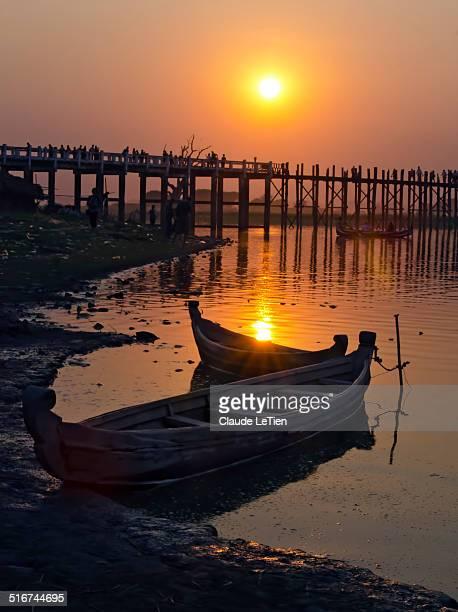 Sunset Over The U Bein Foot Bridge
