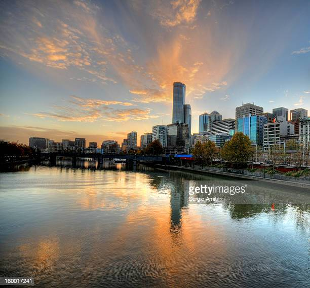 Sunset over the Yarra River, Melbourne