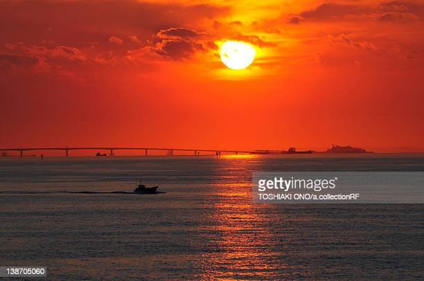Sunset Over Tokyo Bay Aqua-line