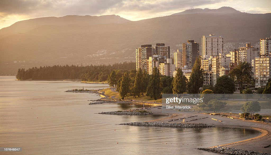 Sunset over Vancouver, BC : Stock Photo