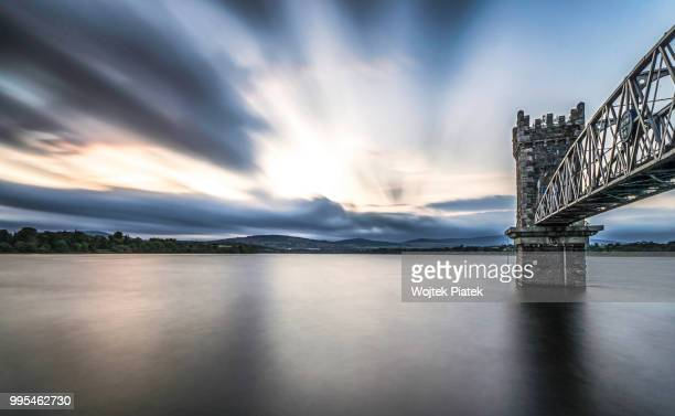 sunset over vartry reservoir, wicklow - piatek stock pictures, royalty-free photos & images