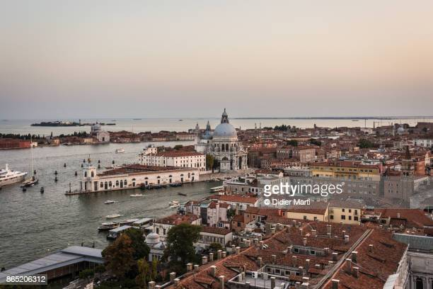 Sunset over Venice Grand Canal in Italy