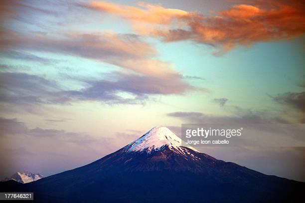 Sunset over Volcano Osorno - Chile