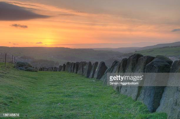 sunset over west yorkshire - simon higginbottom stock pictures, royalty-free photos & images