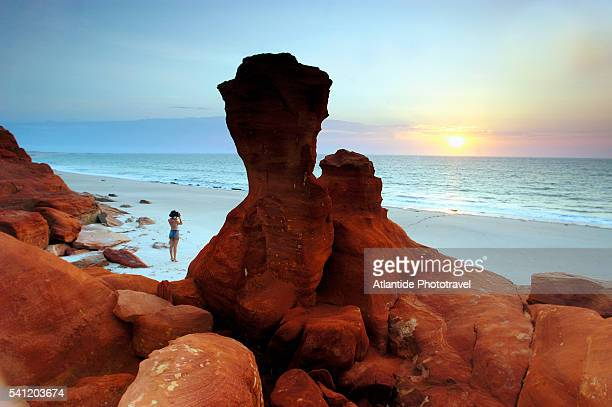 Sunset over Western Cape Leveque Beach