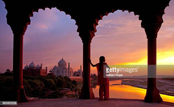 Sunset over Yamuna River & Taj Mahal