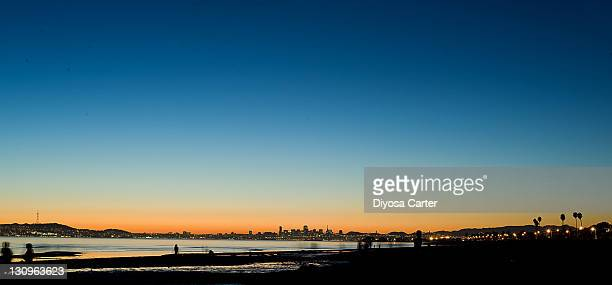 Sunset overlooking san francisco from beach