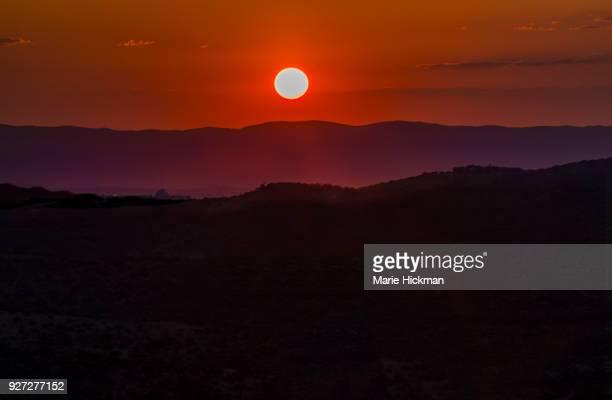 Sunset overlooking Windhoek, Namibia, Africa.