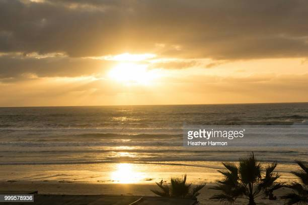 sunset pacific - heather harmon stock pictures, royalty-free photos & images