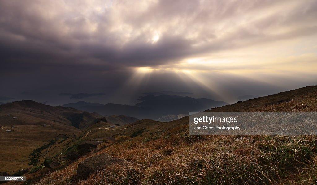 Sunset Peak, Hong Kong : Stock Photo