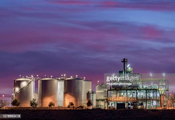 Sunset photography of a biodiesel factory