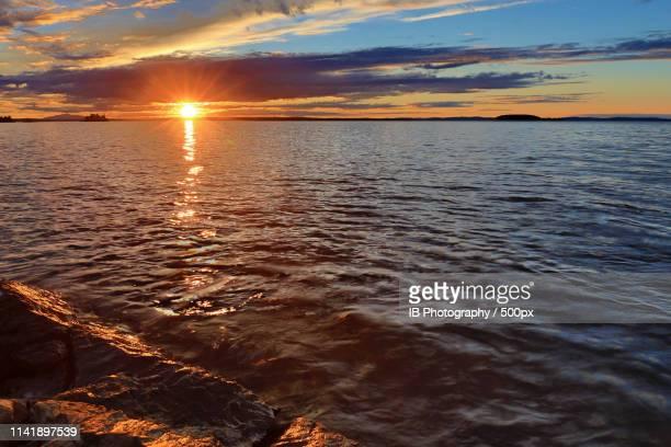 sunset - östersund stock-fotos und bilder