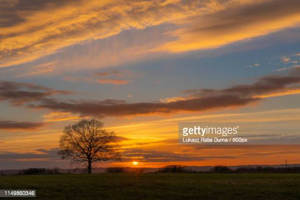 sunset - letchworth garden city stock photos and pictures