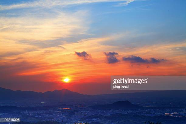 sunset - asuka stock pictures, royalty-free photos & images
