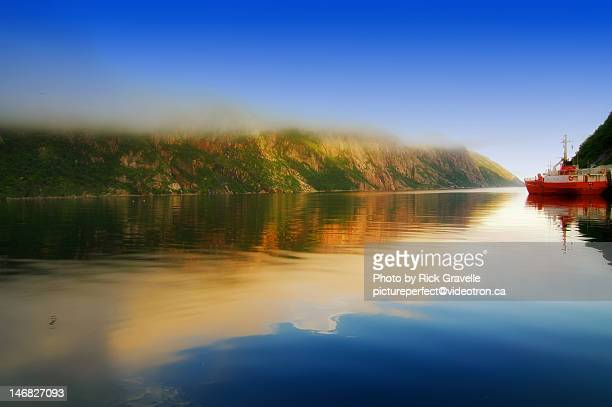 sunset - newfoundland and labrador stock pictures, royalty-free photos & images