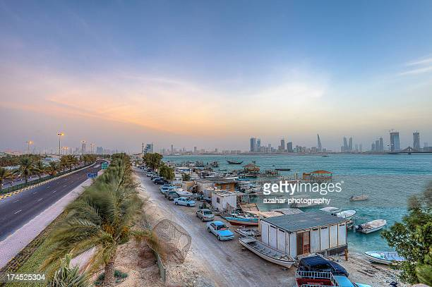 sunset - manama stock pictures, royalty-free photos & images