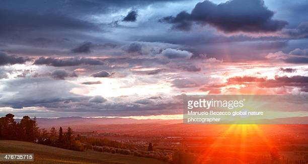 sunset - perugia stock pictures, royalty-free photos & images