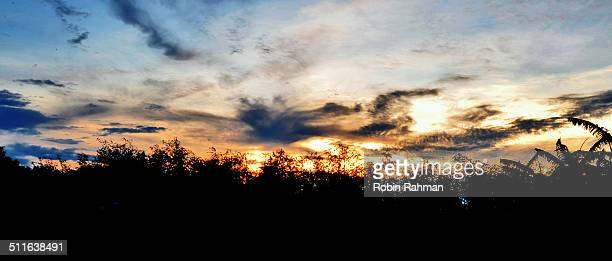 sunset - bangladesh nature stock photos and pictures