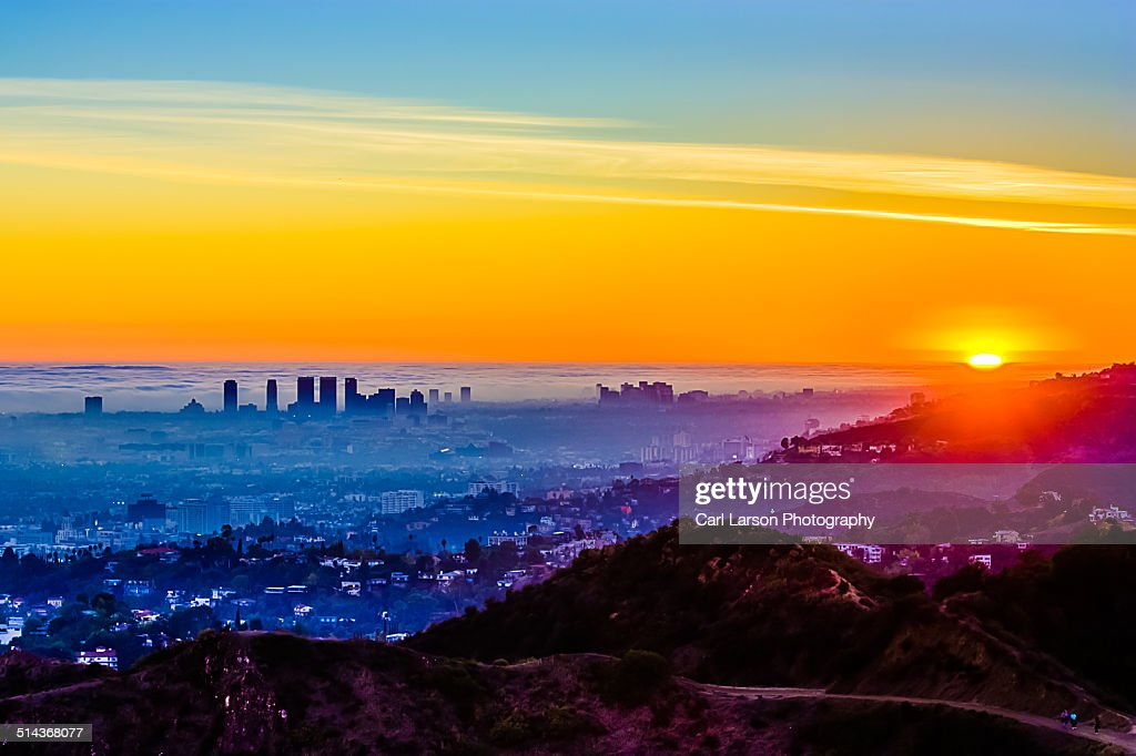 LA sunset : Stockfoto