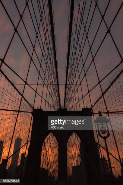 Atardecer de la ciudad de Nueva York