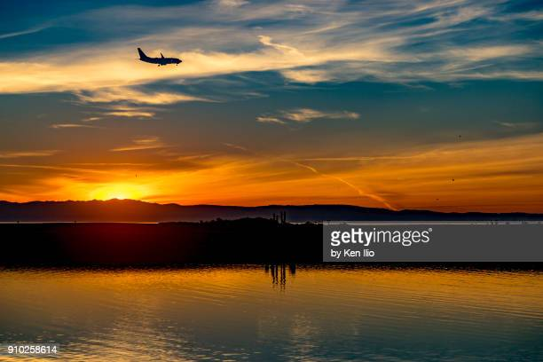 sunset - san leandro stock photos and pictures
