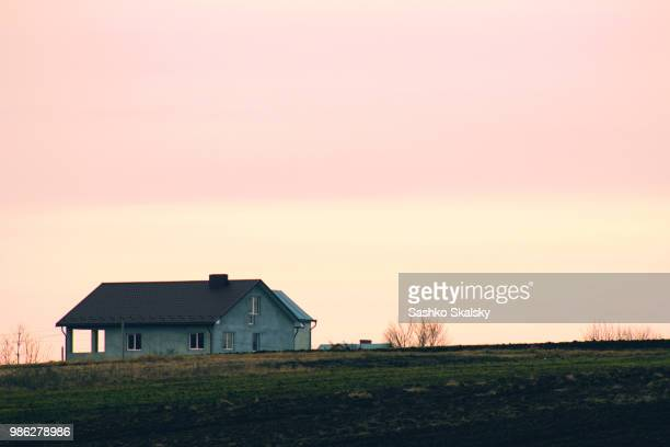 sunset - prairie stock photos and pictures