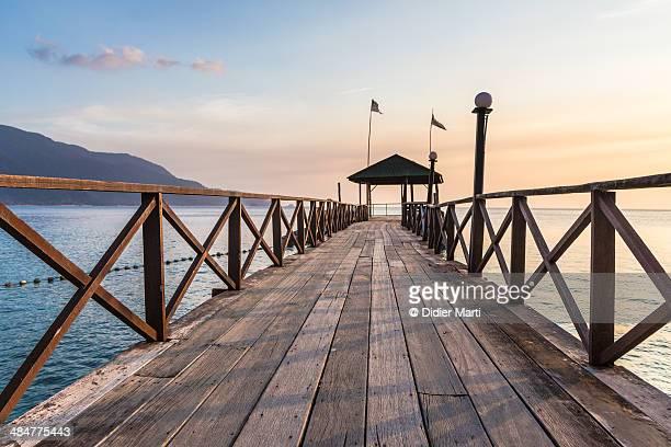 Sunset pier in Tioman island, Malaysia